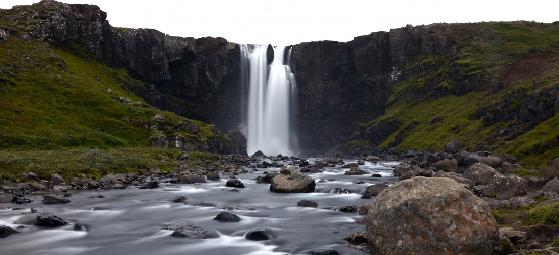 The stunning Gufufoss Waterfall found in Iceland