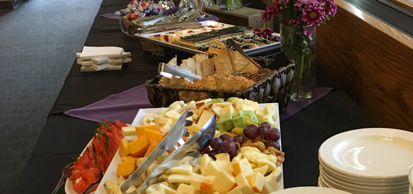 Food at the reception