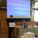Professor Lotta Gavel Adams at the Swedish Collegium for Advanced Studies (r)