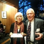 Molly Purrington (UW) and Advisory Board President Rick Peterson