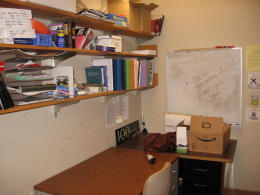 Former Desks and Shelves 108 A