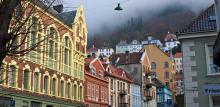 Misty hills over Bergen