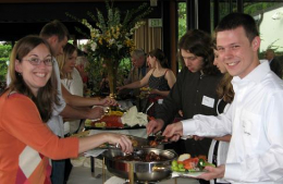 2007 graduates at reception buffet