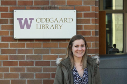 Julie Ane Ødegaard at the Odegaard Library