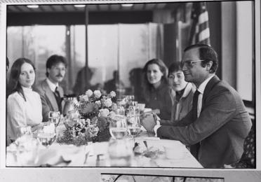 King Carl XVI Gustaf, Queen Silvia, and Elizabeth Weise