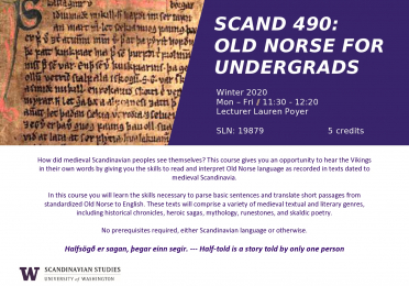 Old Norse for Undergrads