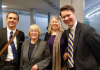 Senator Patty Murray with Jon Hiskes, Lela Hilton, and Andrew Nestingen