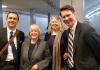 Senator Patty Murray with Jon Hiskes, Lela Hilton, and Andrew Nestingen