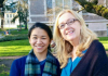 Fulbright Fellow Julianne Yang and Professor Marianne Stecher